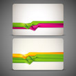 gift cards with multicolored ribbons