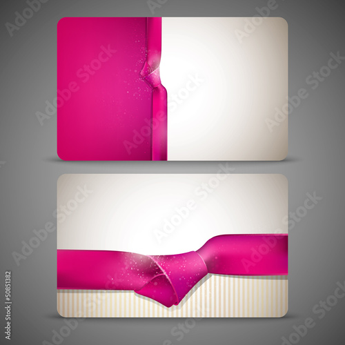 gift cards with pink ribbons