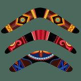 Boomerangs with aboriginal design