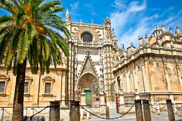 Cathedral of Saint Mary in Seville, Spain.
