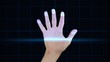 Animation of hand undergoing X-ray procedures