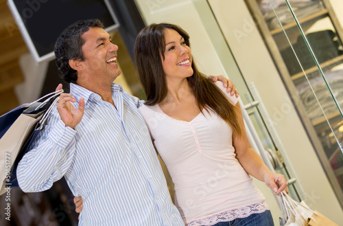 Couple at the shopping center