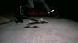 Skater doing 360 flip trick