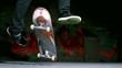 Skater performing 360 flip trick