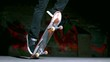 Skater performing impossible 360 trick