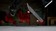 Close up of skater doing 360 flip trick