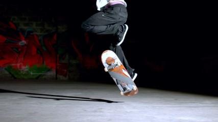 Skater doing backside 360 trick