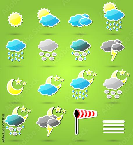 Wetter Symbole Vektor Set
