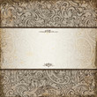 Vintage elegant invitation card with floral background
