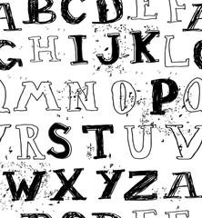 seamless grungy english alphabet
