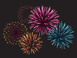 Realistic Vector fireworks - 50852917