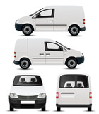 White Commercial Vehicle Mockup poster
