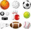 sport balls photo-realistic vector set
