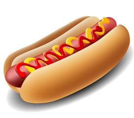 Realistic hot dog