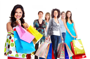 Shopping woman group.