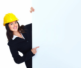 Worker contractor woman.