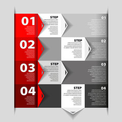 Design template - numbered banners - Infographics for website