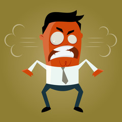 wütend zornig