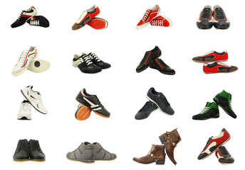 different set of men's shoes
