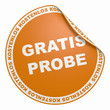 3D Aufkleber Orange- Gratis Probe