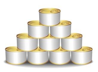 Aluminium Cans Tins-Scatole di Conserva Alluminio-Vector