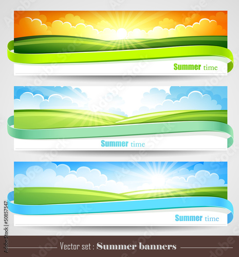 Set of summer banners