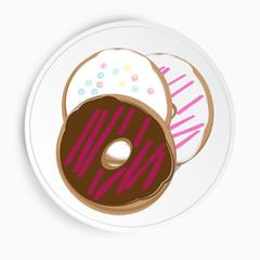 Serving of delicious doughnuts