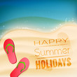 Happy summer holidays - creative background