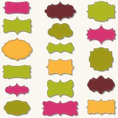 spring colors  labels