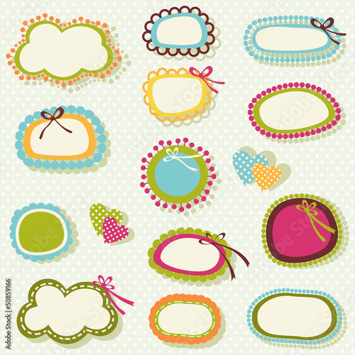 spring colors labels set
