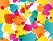 Colorful splatters pattern