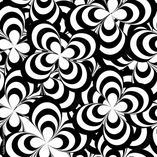 vector seamless abstract pattern, black and white