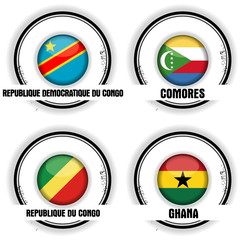 quatre pays africains