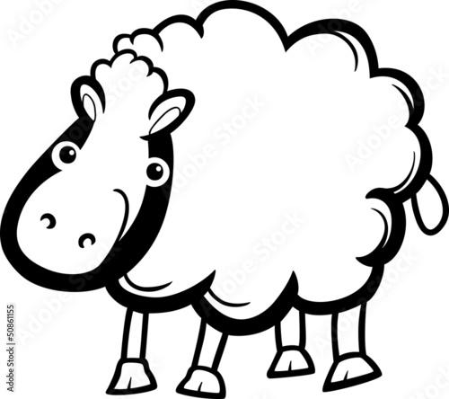 可爱的国家图形孩子气微笑快乐的性质插图书有趣的漫画白色网页绘图羊