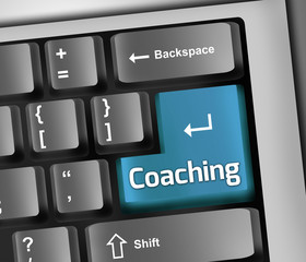 "Keyboard Illustration ""Coaching"""