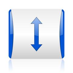 arrows blue square web glossy icon