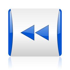 scroll blue square web glossy icon