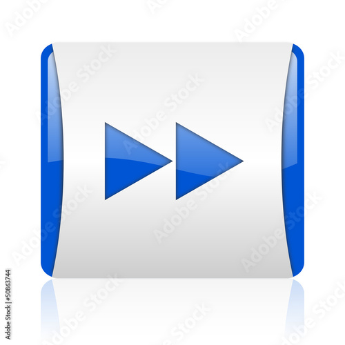 scroll blue square web glossy icon