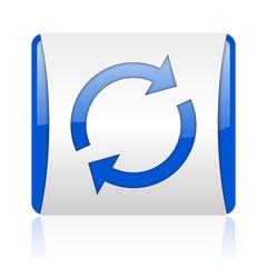 reload blue square web glossy icon