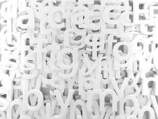 fondo abstracto blanco con letras y abecedario