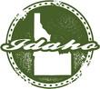 Vintage Idaho USA State Stamp