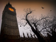Spooky Big Ben with bats - 50865372