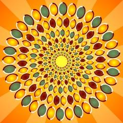 optical orange background
