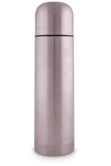Metal thermos (Clipping path)