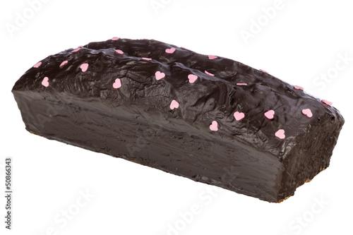 Schokoladenkuchen freigestellt