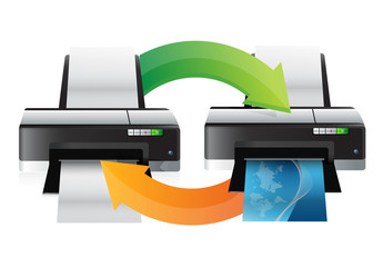 printer working cycle illustration
