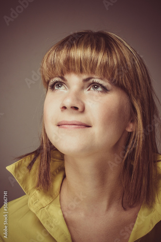 Beautiful Young Woman Retro Portrait