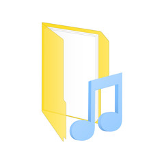 Music icon. Vector illustration