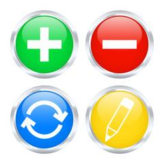 Set of edit web buttons. Vector illustration