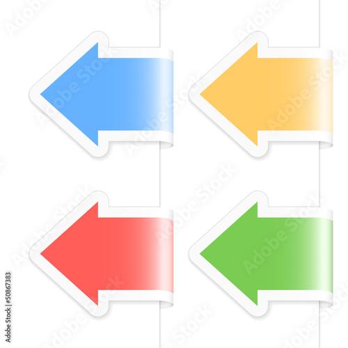 Arrow labels. Vector illustration
